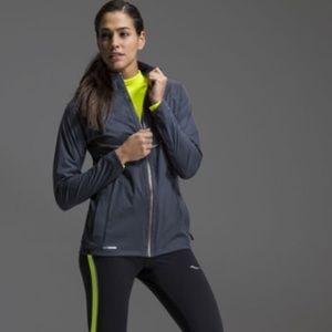 SAUCONY Women's Running Jacket Size XL black gray